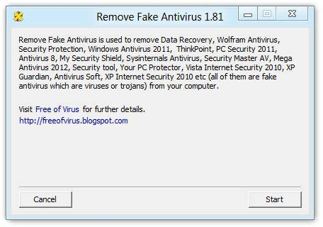 Remove Fake Antivirus programok