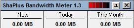 Shaplus Bandwidth Meter adatforgalmak