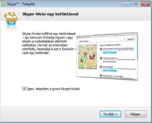 Skype telepítés