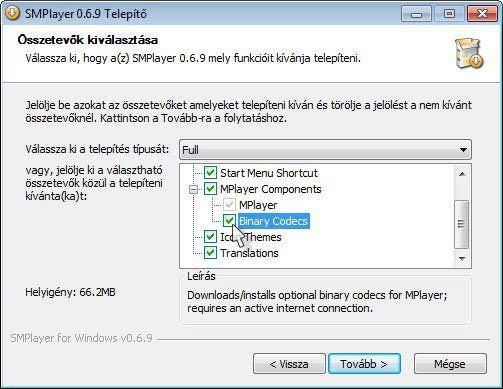 SMPlayer telepítés