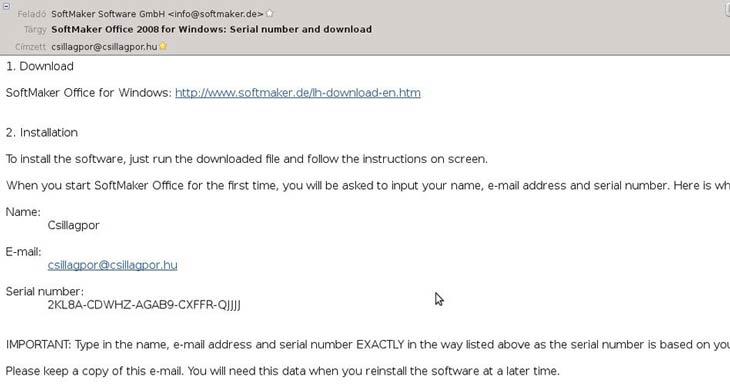 SoftMaker Office e-mail