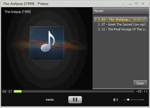 SPlayer playlist