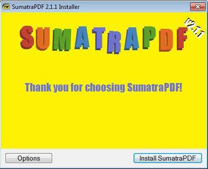 Sumatra PDF telepítése