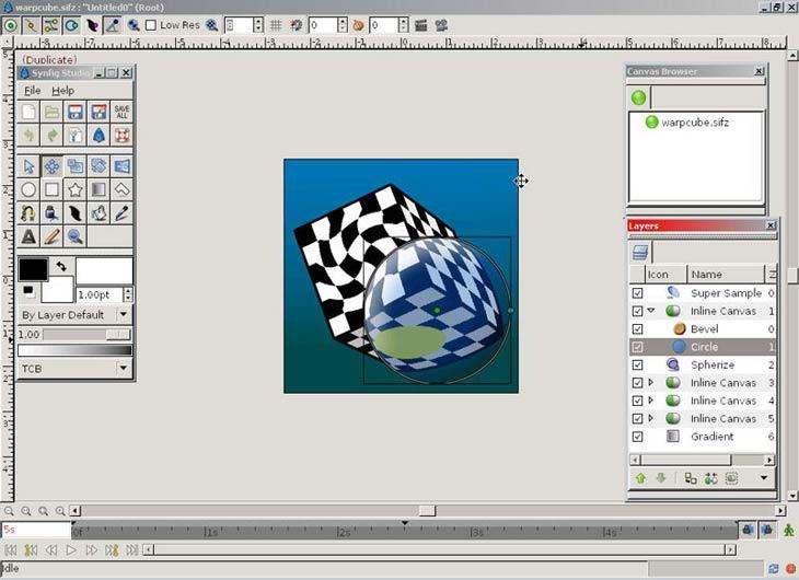 Synfig Animation Studio rétegkezelés