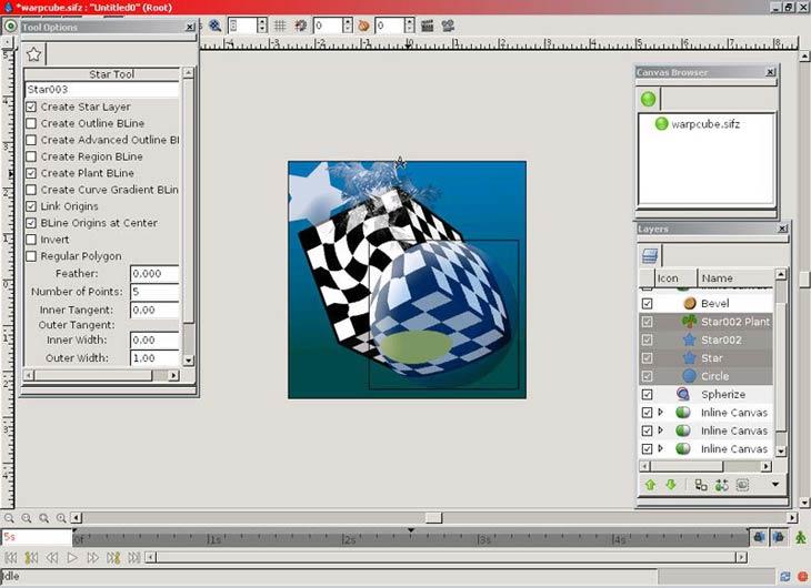 Synfig Animation Studio eszközök