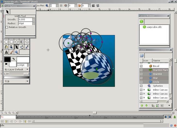 Synfig Animation Studio sebesség