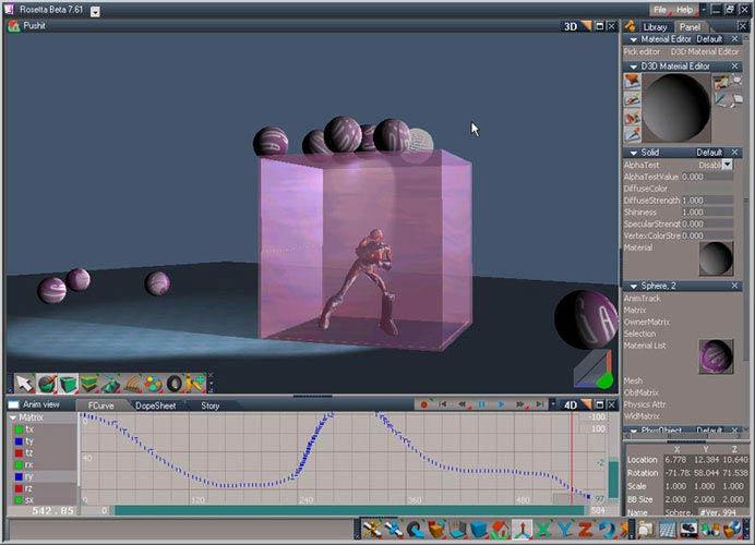 trueSpace fizika és anyag