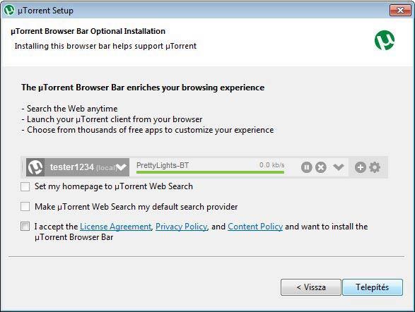 µTorrent nem kell