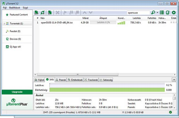 µTorrent információk