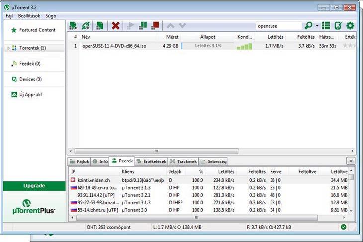 µTorrent peer