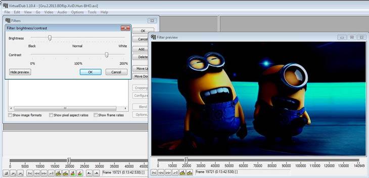 VirtualDub szűrő
