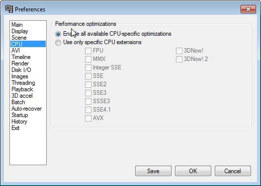 VirtualDub CPU