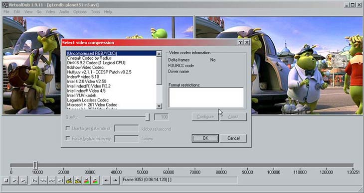 VirtualDub videó tömörítés