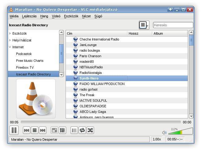 VLC lejátszó