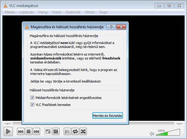 VLC magánszféra