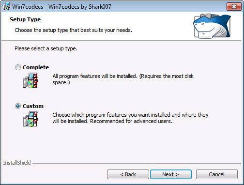 Win7codecs codec testreszabás
