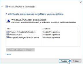 Nem működik Windows 10-en az Áruház!