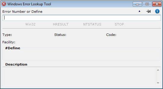 Windows Error Lookup Tool - elindult