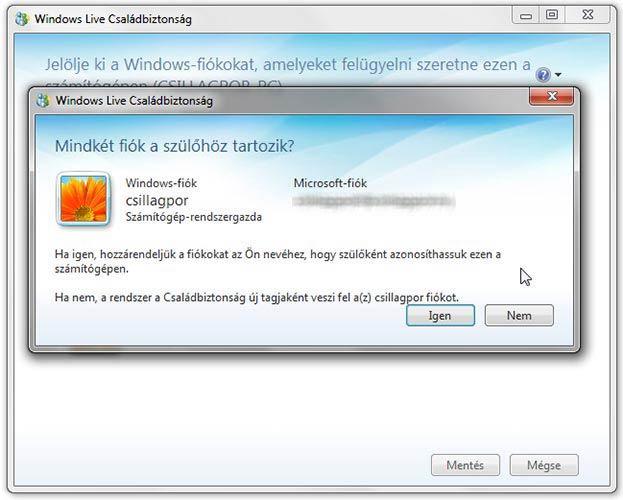Windows Live Családbiztonság