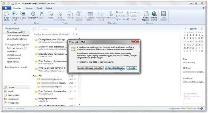Windows Live Mail spam