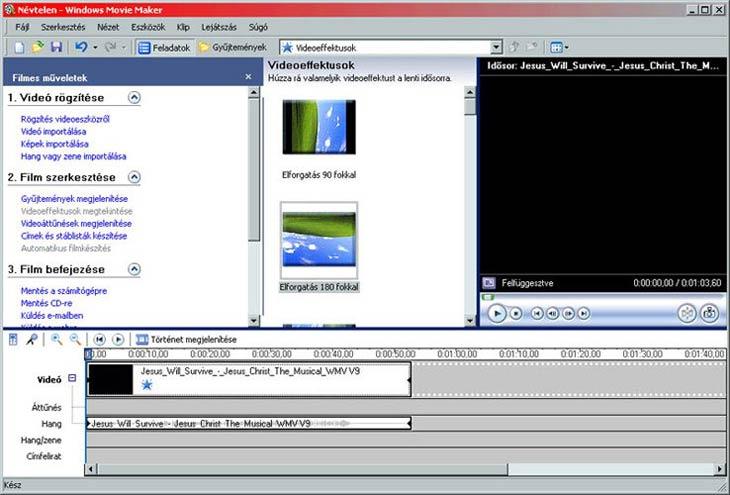 Windows Movie Maker videóeffektusok