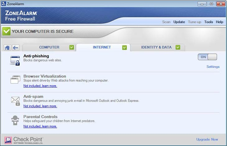 Zonealarm Anti-phishing