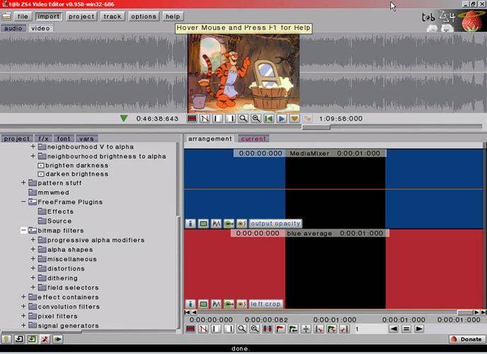 ZS4 Video Editor effektek