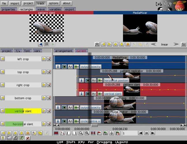 ZS4 Video Editor szerkesztés