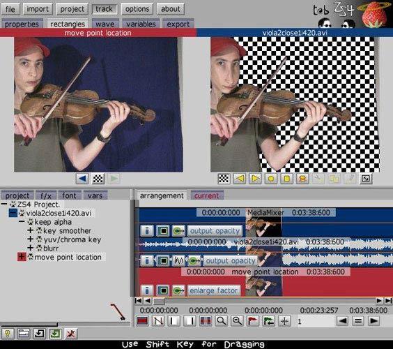 ZS4 Video Editor Chroma key