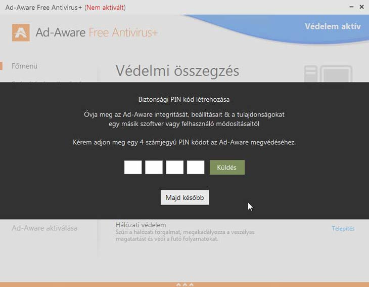 Ad-Aware Free Antivirus+ PIN kód