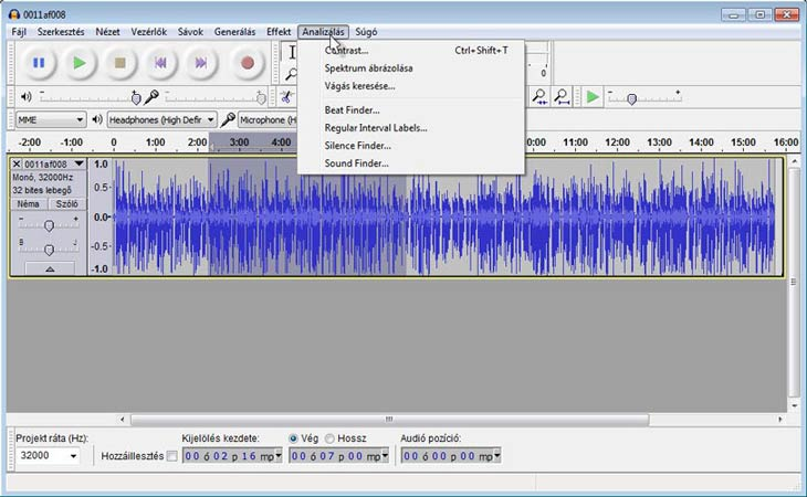 Audacity Beta Beat Finder