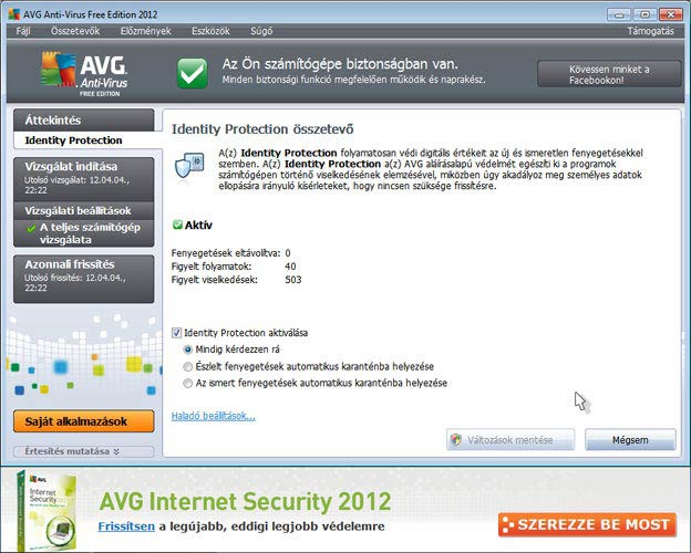 AVG Antivirus Free Identity Protection