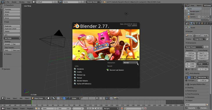 Blender 2.77a Windows 10