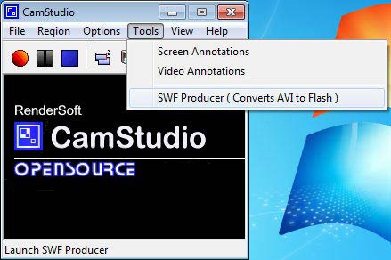 Camstudio SWF Producer