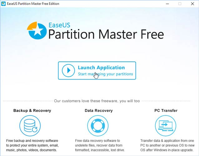 Partition Master Free indulás