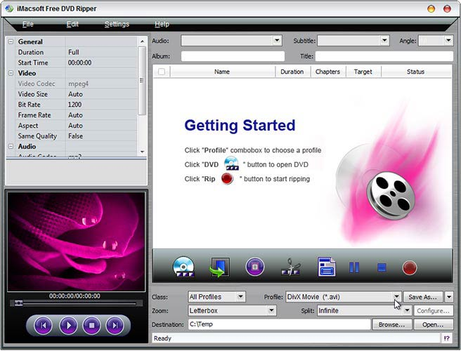 iMacsoft Free DVD Ripper