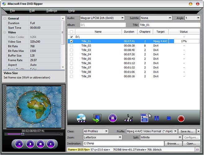 iMacsoft Free DVD Ripper mp4
