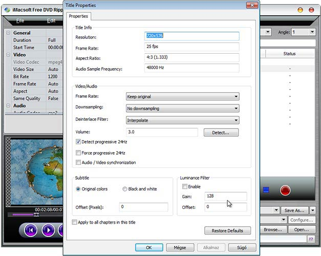 iMacsoft Free DVD Ripper film