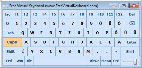 Free Virtual Keyboard Caps Lock