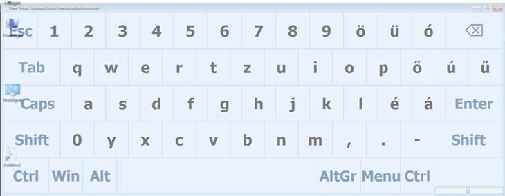 Free Virtual Keyboard méret