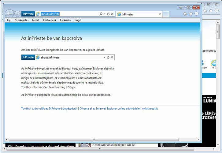 Internet Explorer 9 InPrivate