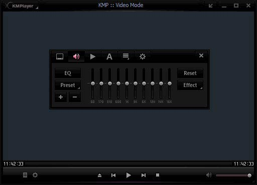 KMPlayer Equaliser
