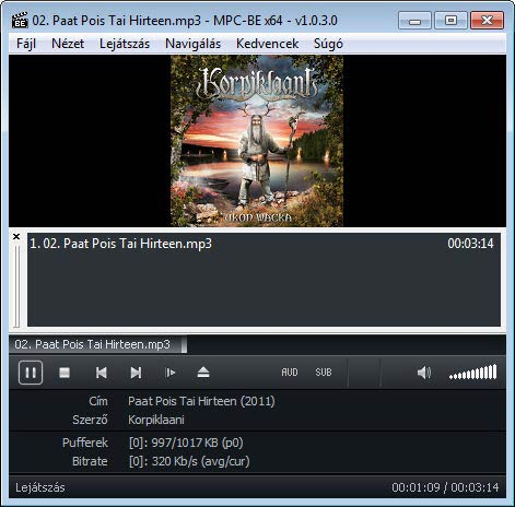 Media Player Classic - BE mp3