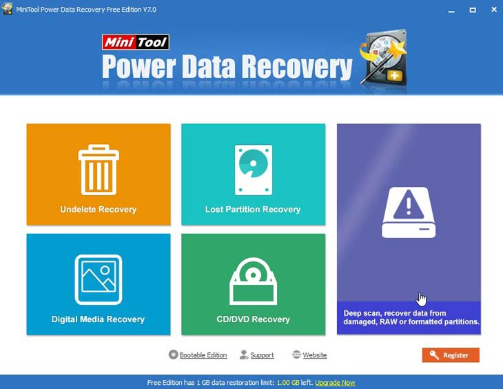 Power Data Recovery Windows 10