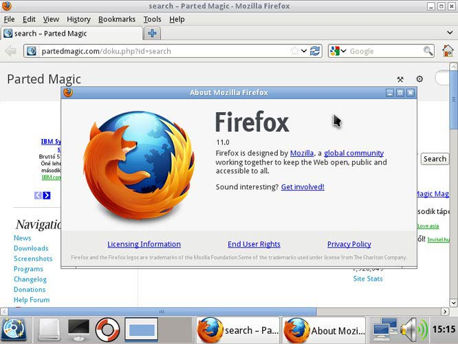 Parted Magic Firefox