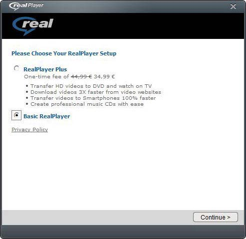 Basic RealPlayer