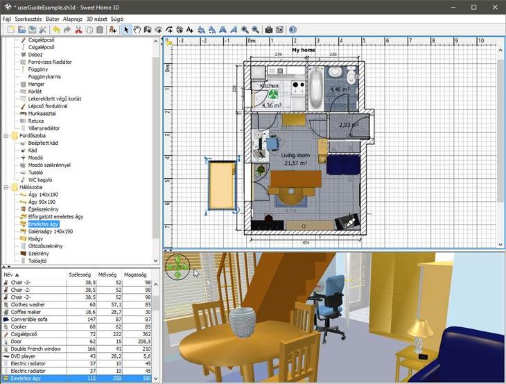 sweet home 3d k perny k pek. Black Bedroom Furniture Sets. Home Design Ideas