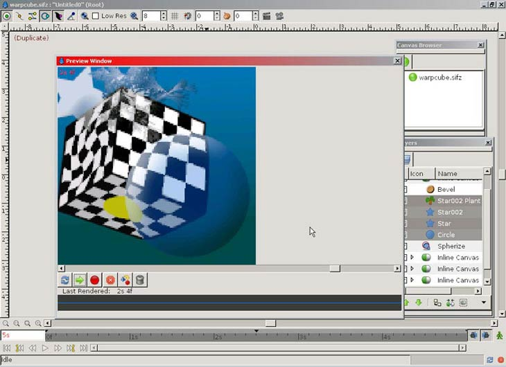 Synfig Animation Studio előnézet