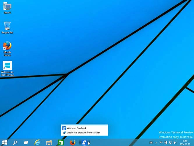 Windows 10 tálcáról el