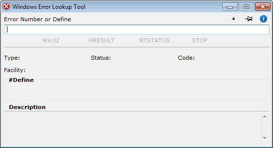 Windows Error Lookup Tool - elindult
